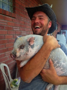 woodshop and pig