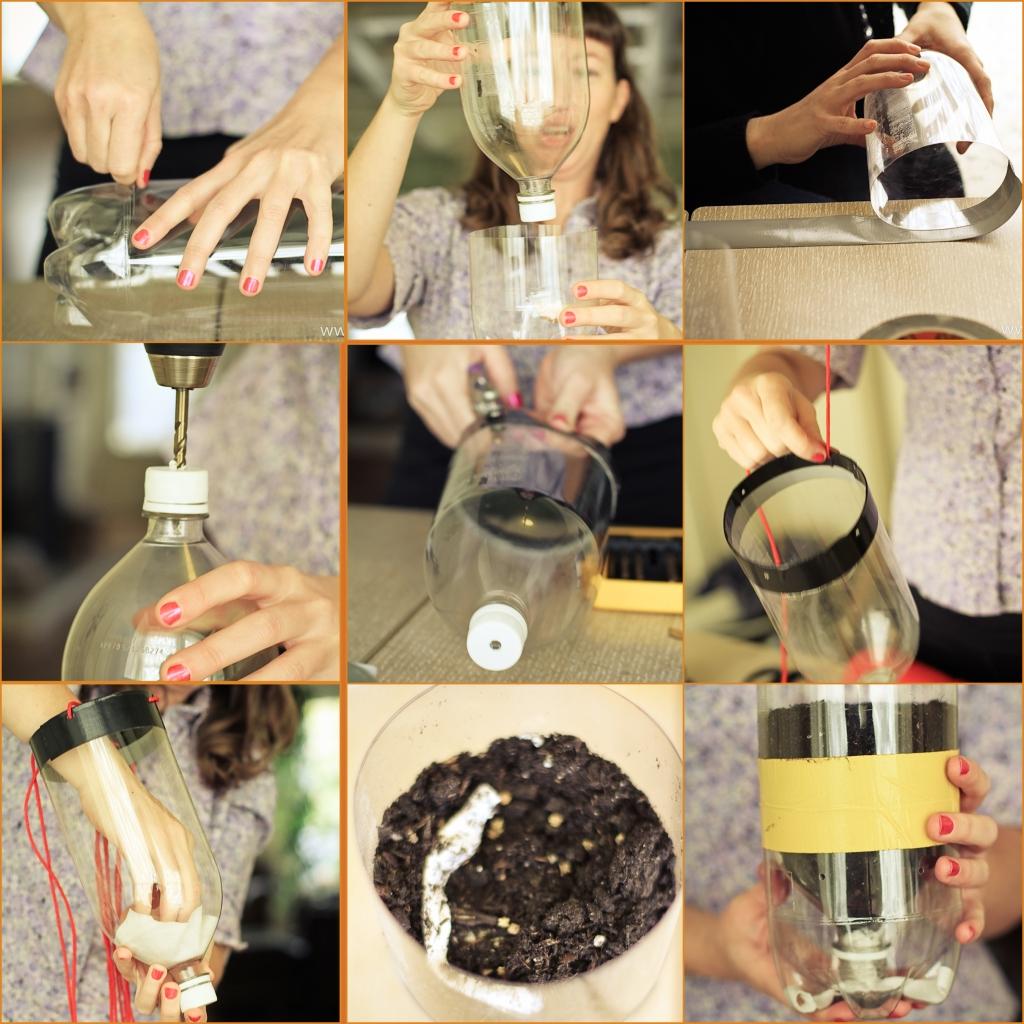 Diy sub irrigated planter sip project hope art for Plastic bottle planter craft