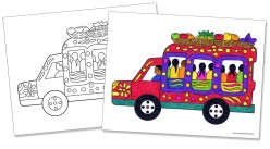 Tap Tap Coloring Page